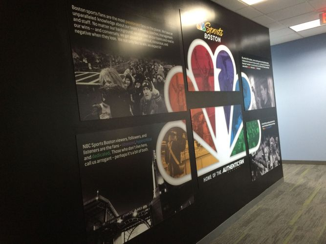 NBC Sports Boston Wall Mural