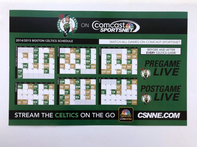 Celtics Preseason Cheer Card