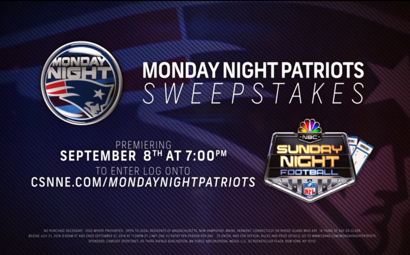 Monday Night Patriots Promotion